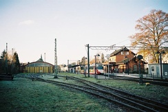 Viernheim OEG station with depot
