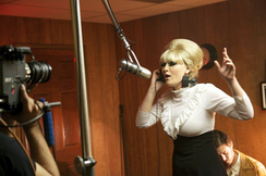 Paige Segal as Springfield during the making of the 2014 movie The Soul of Blue Eye, based on the story surrounding the recording of her Dusty in Memphis album.