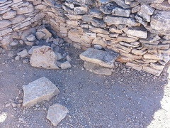 Another view of the ruins of a Hohokam house.