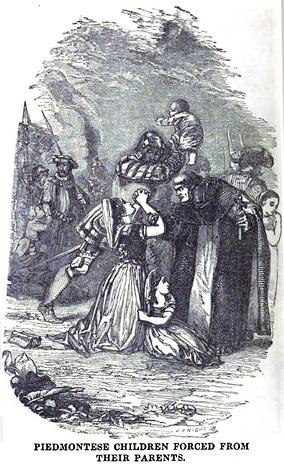 Piedmontese Children Forced from their parents (October 1853, X, p.108)[4]