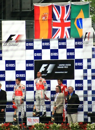 Podium for the 2007 United States Grand Prix