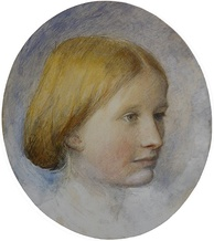 Rose La Touche, as sketched by Ruskin