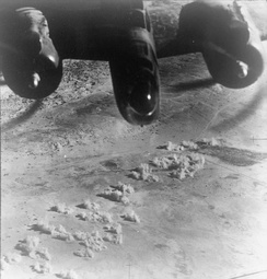 RAF Baltimore of No. 223 Squadron bombing El Daba airfield in support of the Alamein offensive