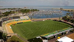 The newly renovated Al Lang Stadium for the Tampa Bay Rowdies