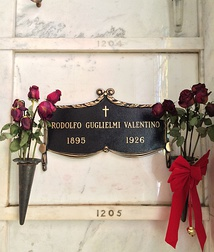 Valentino's crypt at Hollywood Forever Cemetery
