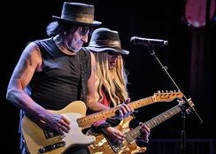 Sambora and Orianthi at NAMM, January 2017.