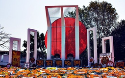 Shaheed Minar, established to commemorate those killed during the Bengali Language Movement demonstrations of 1952 in then East Pakistan