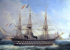 Napoléon (1850), the world's first steam-powered battleship