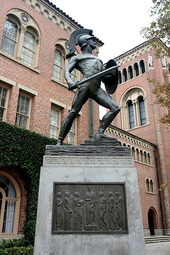 """Tommy Trojan"" is a major symbol of the university, though he is not the mascot."