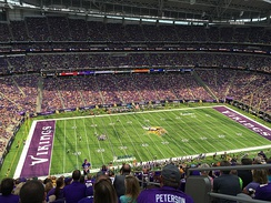The Vikings hosting their first game at the stadium in 2016.
