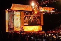 The Heat version of the universal WWE entrance set introduced in January 2008 for WWE's high-def broadcasting