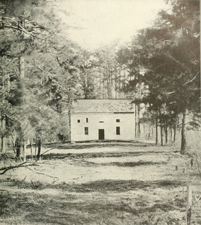 Wilderness Church at Chancellorsville was the center of a stand made by Union general Schurz's division during Stonewall Jackson's surprise flank attack.