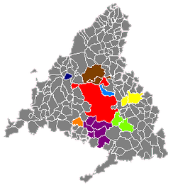 Madrid submetropolitan areas