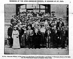 Afro-American Council at 1902 meeting in Saint Paul, Minnesota