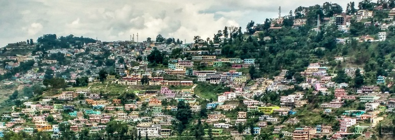 View of Almora city