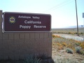 Entrance to the Antelope Valley California Poppy Reserve