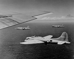 B-17Fs of the 26th BS, 11th BG, over the South Pacific, 1942.