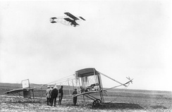Farman III in flight, Berlin 1910