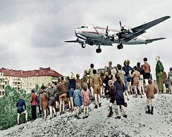 C-54 landing at Tempelhof during the Berlin Airlift