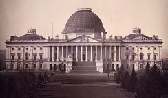 Daguerreotype of east side of the Capitol in 1846, by John Plumbe
