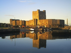 Carrickfergus Castle; its surrender on 27 August ended the Jacobite presence in the North