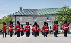 The Royal 22nd Regiment at La Citadelle's parade grounds. The military installation is presently used by the Canadian Armed Forces.
