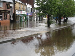 Flooding on Front Street in 2007