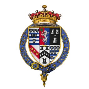 Quartered arms of James Cecil, 3rd Earl of Salisbury, KG, PC