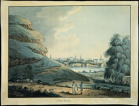 A 1798 watercolor of the Collect Pond