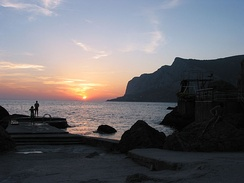 Sunset on the Black Sea at Laspi, Crimea
