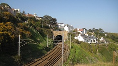 The railway line at Dalkey, looking north