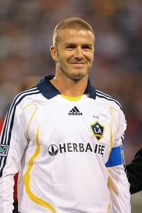 David Beckham playing for Galaxy in 2007