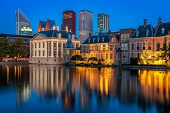 The Binnenhof, where the lower and upper houses of the States General meet