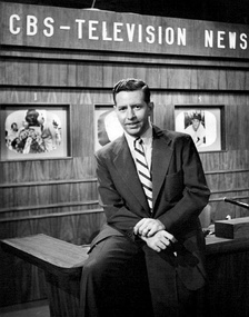 Douglas Edwards on the CBS news set in 1952.