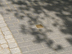 Stolperstein for Else Hirsch on pavement in Bochum