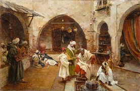 The Barber at the Souk by Enrique Simonet, 1897