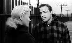 Brando with Eva Marie Saint in the trailer for On the Waterfront (1954).