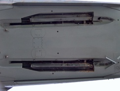 The AIM-4 Falcon side of the F-101B missile door