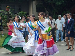 Celebration of La Fiestas Patrias in Las Chinamas