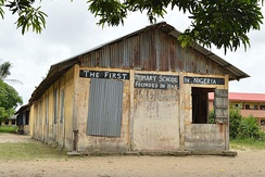 First primary school building in Badagry, Nigeria, built in 1845[1]