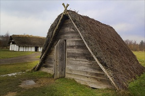 A type of Anglo-Saxon building called a Grubenhaus