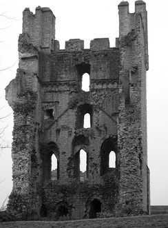 Helmsley Castle was destroyed at the end of the Civil War