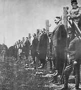 Austro-Hungarian soldiers executing Serb civilians during World War I.