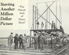Worsley observing the erection of the first set in December 1922.