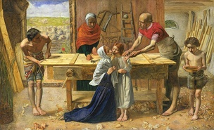 Christ in the House of his Parents, 1850, by John Everett Millais