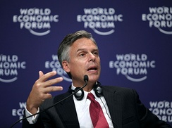 Huntsman speaking at the World Economic Forum in Dalian, China, in 2009