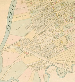 Map of Flushing in 1891
