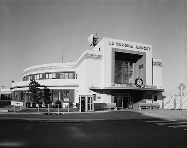 The Marine Air Terminal at La Guardia Airport  (1937) was the New York terminal for the flights of Pan Am Clipper flying boats to Europe
