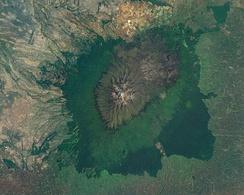 Снимок горы со спутника