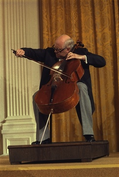 Russian cellist Mstislav Rostropovich in 1978